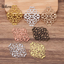 BoYuTe (50 Pieces/Lot) 36*30MM Metal Brass Filigree Findings Diy Hand Made Jewelry Materials Wholesale