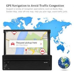 Image 3 - Podofo Radio Multimedia con GPS para coche, Radio con reproductor, Android, 1 Din, pantalla táctil de 7 pulgadas, navegación GPS, Wifi, Audio estéreo, Universal