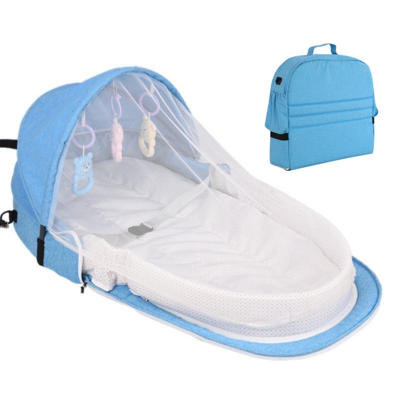 F-B Baby Bed Travel Sun Protection Mosquito Net With Portable Bassinet  Infant Foldable Breathable Baby Sleeping Basket New