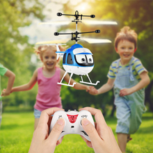 Mini Induction Toy Planes Flying Toys RC Plane Helicopter Cartoon Remote Control Drone Infrared Sensor Aircraft Drone For Kids