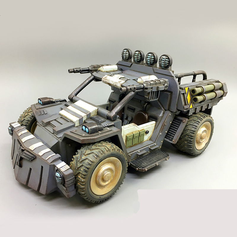 JOYTOY 1/27 action figure Car model toys 3rd generation RHINOCEROS SCOUT CAR Birthday gift Free shipping
