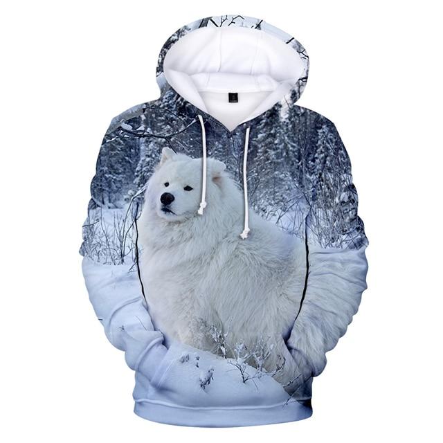So Cute Samoyed Sweatshirt Children/Boys/Girls Autumn Winter Fashion Casual Kawaii Hoodie 3D Print Samoyed Pullover Streetwear