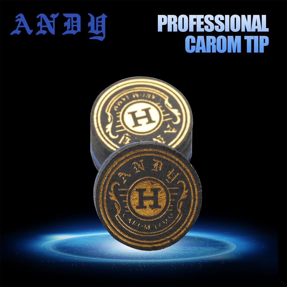 ANDY Carom Cue 14mm Tip 6 Layers 7 Mm Thinkness High Quality  Carom Billiard Tips Professional Billiard Accessories For Champion