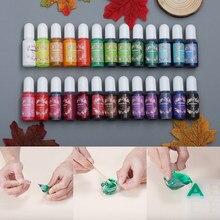 10ml UV epoksi reçine Mix renk boya renklendirici hızlı kuruyan renklendirici reçine Pigment DIY reçine el sanatları el yapımı takı yapma aracı