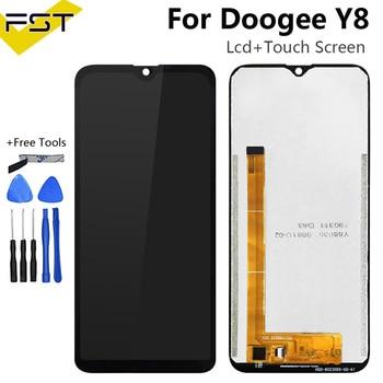 Pantalla LCD de 6,1 'para Doogee Y8 y piezas de reparación de montaje de digitalizador con pantalla táctil con herramientas y adhesivo para teléfono Doogee Y8