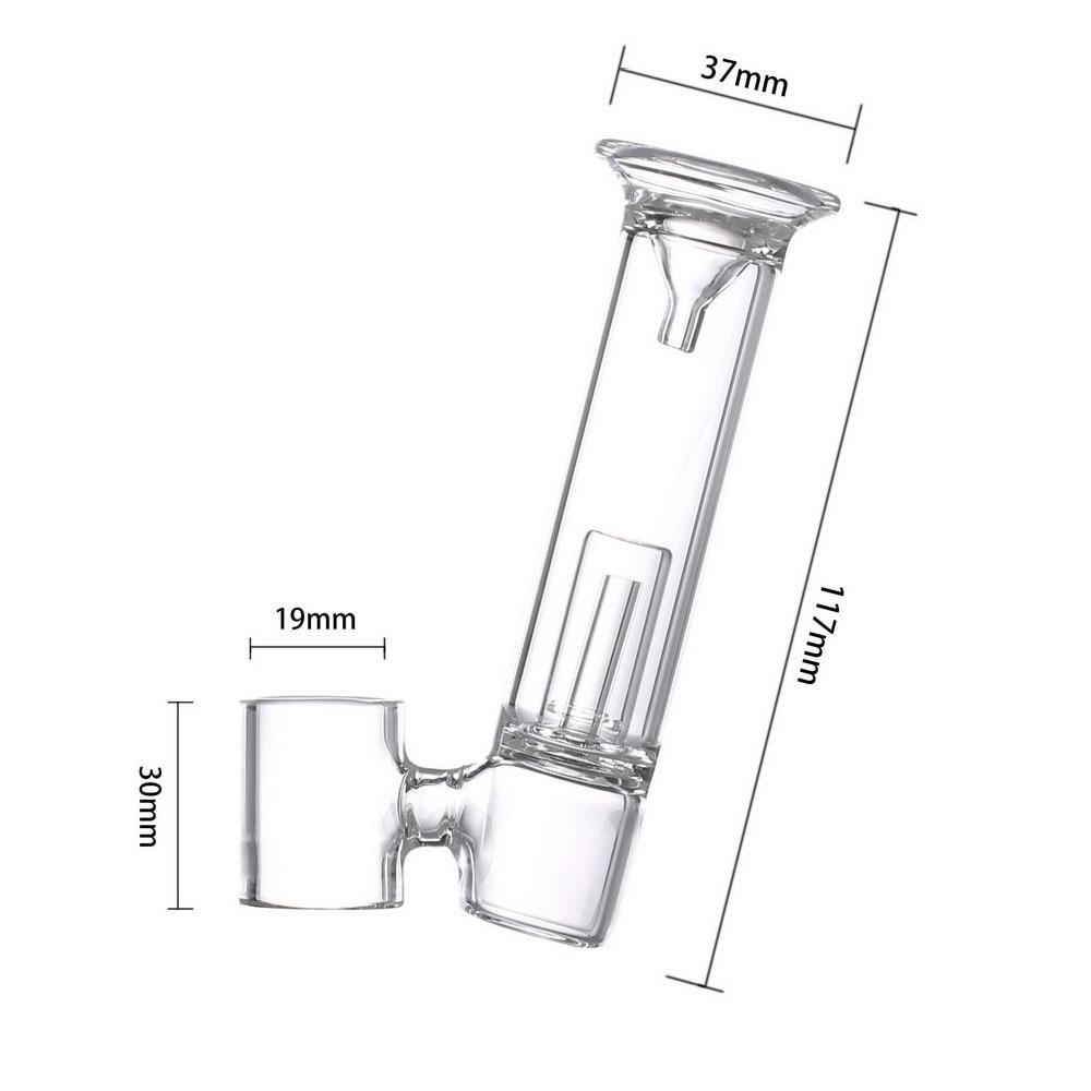 19MM Glass Mouthpiece Water Filter Bong Pipe Replacement for 510 Nail/H Enail/Henail Plus Wax Dab Pen Kit 6