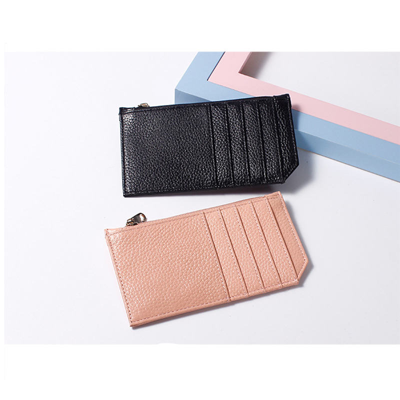 Retro Men's And Women's Leather Mini Credit Card Pocket Change Small Purse Credit Card Holder 2020