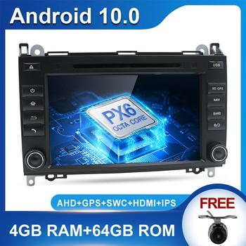 PX6 System 4G+64G Autoradio Android 10.0 For Mercedes Benz B200 Sprinter/B-class/W245/B170/W169 GPS Button Car dvd Radio Stereo image