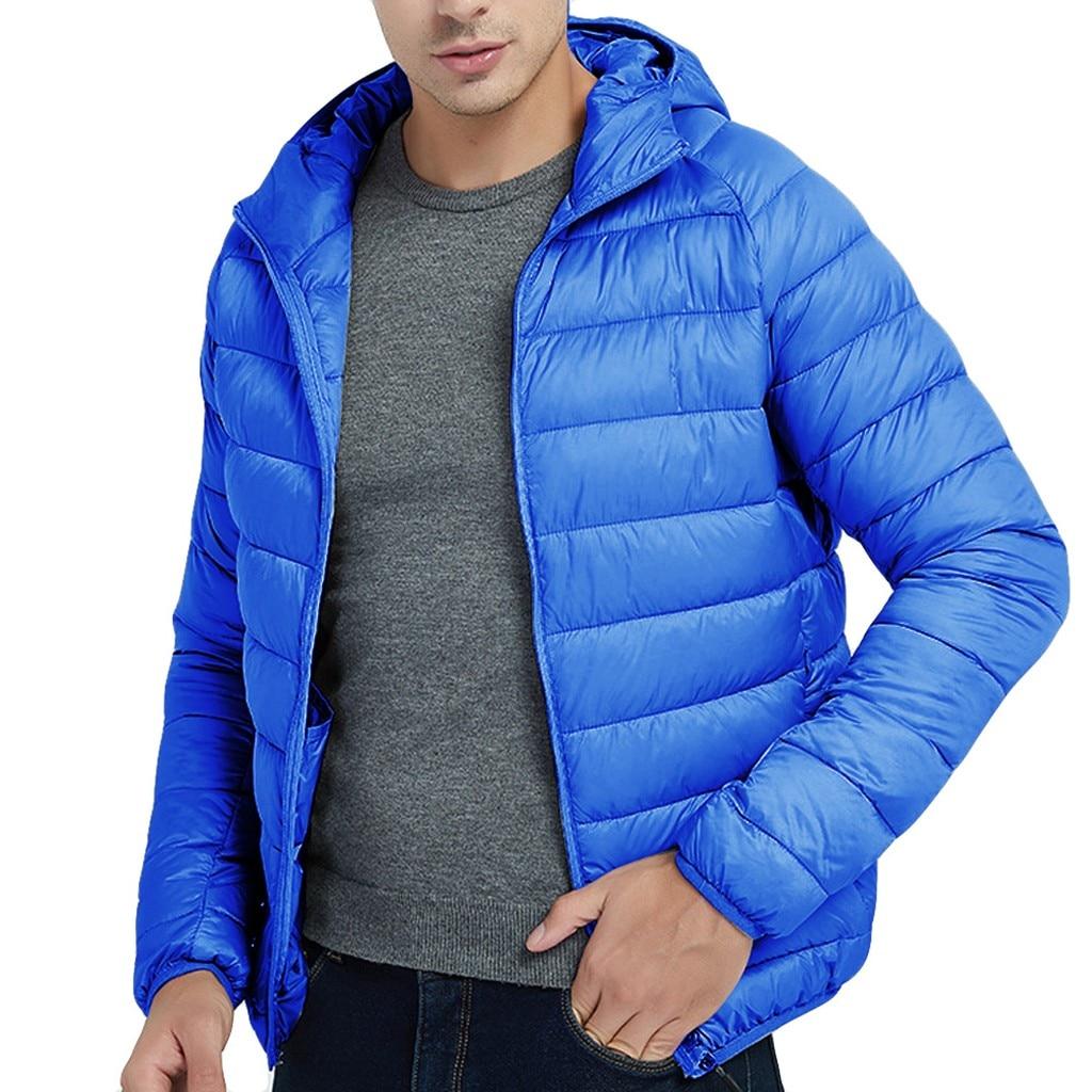 H10f80302b56948548a2c04f9958eaab41 Jacket Men Autumn Winter Style Light Weight Overcoat Outerwear Coats Cotton Warm Hooded Men's Jacket Coat chaqueta hombre S-2XL