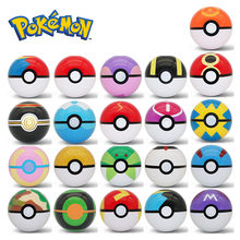 Takara Tomy Pokemon Huisdier Elf Bal Pikachu Pokeball 7cm Pop-up Poke Ballen Kids Figures Speelgoed Hot Thuis decoratie Gift(China)