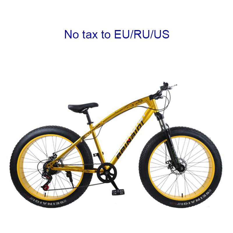4.0 Fat Bike 24 And 26inch Mountain Bike 7 Variable Speed Snow Bicycle Shock Absorbing Beach Bike Big Tire Mountain Bicycle