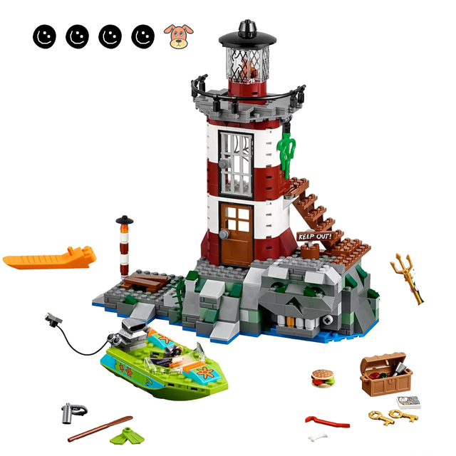 Fit 75903 Scooby Doo Haunted Lighthouse Set Animal Dog Mini Figure Bela 10431 Building Blocks Toys For Children Gifts 2