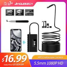 5.5mm télescopique Wifi Endoscope caméra 1080P HD Semi rigide serpent caméra USB Endoscope Endoscope IOS Endoscope pour Iphone tablette