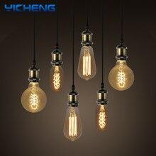 Retro Filament Lamp E27 AC220-240V ST64 T45 G80 Warm White 40W Edison Light Bulb Incandescent Ampoule Bulbs Vintage Edison Lamp