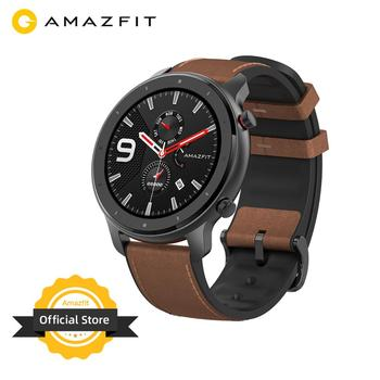 Global Version Amazfit GTR 47mm Smart Watch 5ATM Waterproof Smartwatch 24Days Battery Music Control Leather Silicon Strap
