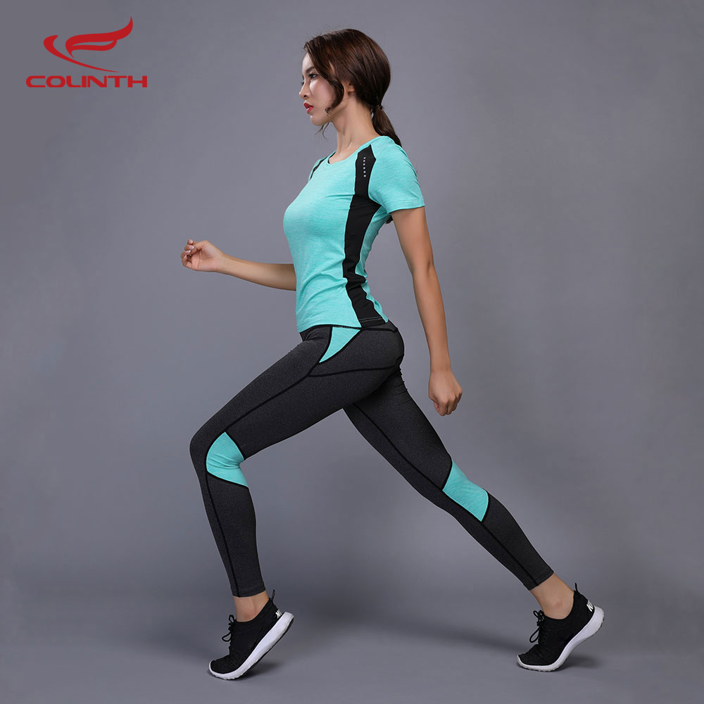 Reflective Yoga Set Compressed Leggings Gym Fitness Clothes Tennis Shirt + Pants Sport Suit Sexy Women Yoga Capris Workout Sets