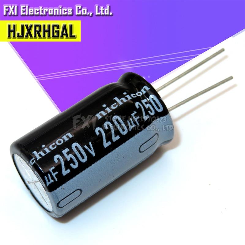 5PCS 250v220uf 220uf250v 18*32 250v 220uf 18x32 Electro Electrolytic Capacitor