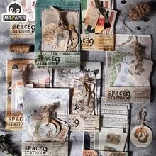Г-н бумаги 24pcs/много старинные этикетки канцелярскими пуля карточки Kraft вести дневник DIY скрапбукинг справочник материал бумажные карты ЛОМО