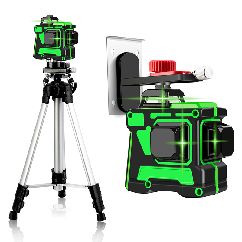532nm Wavelength Beam Green Laser Messuring Equipment 12 lines 3D Self-leveling 360 Degree Horizontal Vertical Laser Levels