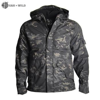 HAN WILD Outdoor Jackets Hiking Jacket Men Fleece Camouflage Hunting Clothes Men Tactical Military Uniform Windproof Windbreaker 3