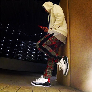 Image 5 - Vintage Scottish Plaid Sweatpant Justin Bieber Tartan Track Pants Mens Drawstring Ankle Strap Zip Patch Hip hop Jogger for Men