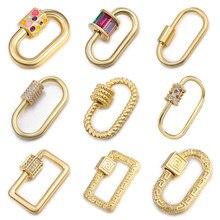DIY Schmuck Machen Kupfer Zirkon Tasten Kann In Halskette Armband Für Frauen Handgemachte Schließe Zubehör Für Schmuck