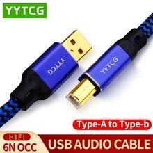 YYTCG Hifi USB-кабель, высокое качество, тип A-Тип B Hifi кабель для передачи данных для DAC