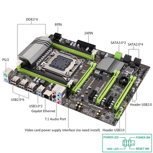 Image 5 - Kllisre X79 เมนบอร์ดชุดXeon E5 2689 4X4GB = 16GB 1333MHz DDR3 ECC REGหน่วยความจำ