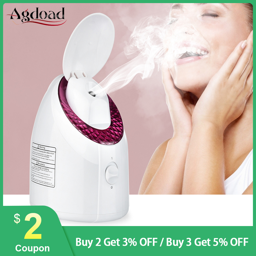 UV LED Nano Ionic Facial Steamer Deep Cleaning Face Sprayer Humidifier Moisturizing Face Steaming Device Facial Cleaner