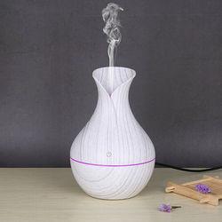 Elektryczny Aroma dyfuzor powietrza drewna ultradźwiękowy olejek eteryczny do nawilżacza wytwarzacz mgiełki do aromaterapii dla domu