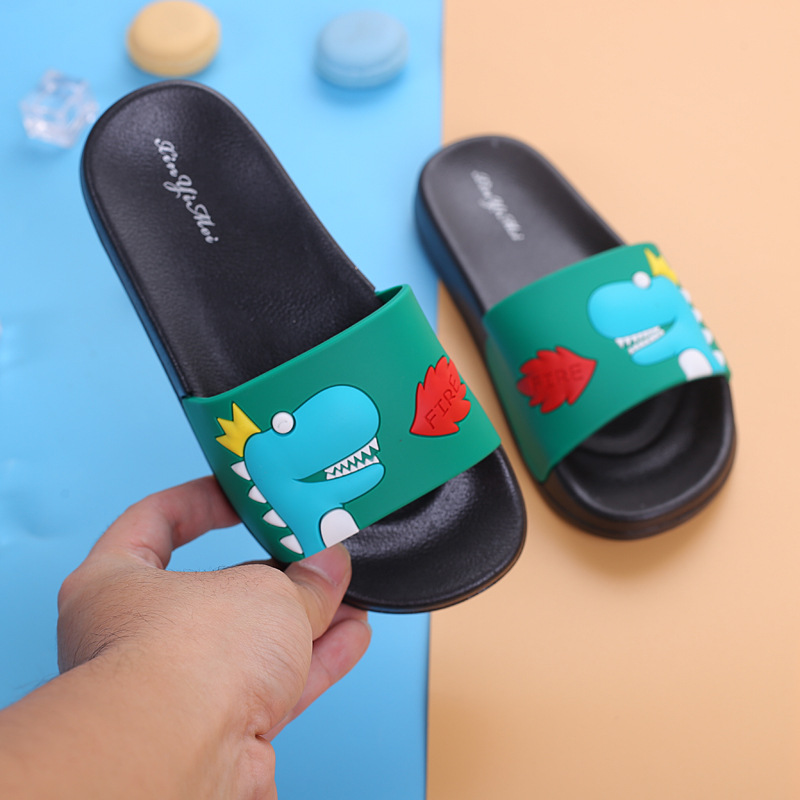 New Cartoon Dinosaur Slippers Unicorn Baby Boy Girl Children Summer Beach Water Indoor Home Shoes Children Outdoor New Sandals