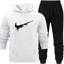 Joker Men Hoodies Pants Set Winter Wear Autumn Fleece Outwear Breathable Sportswear Brand Logo with Hood Tracksuit Sweatshirt