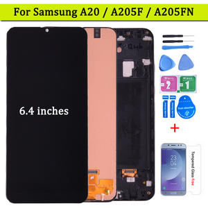 6.4'' For Samsung Galaxy A20 LCD Display With Touch Screen Digitizer Assembly For Samsung A205 SM-A205F A205FN Free shipping(China)
