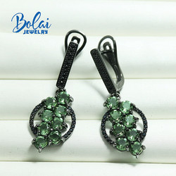 Bolai,Zultanite color change earring 925 sterlng silver women best gift ,brown pink and green color changing