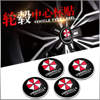 4pcs 56.5mm Stickers Wheel Center Hub Caps Badge emblem for bmw benz audi toyota vw skoda mazda car styling image