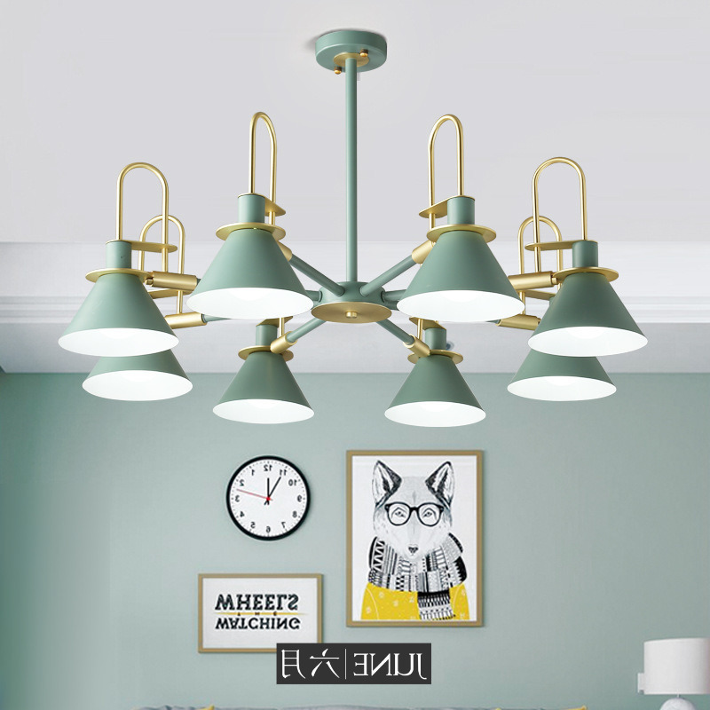 Nordic Simple Bar Hanging Lamp Colored Pendant Light Restaurant  Bedroom  Bedside Lights  Modern Art And Creative Lighting Pendant Lights     - title=