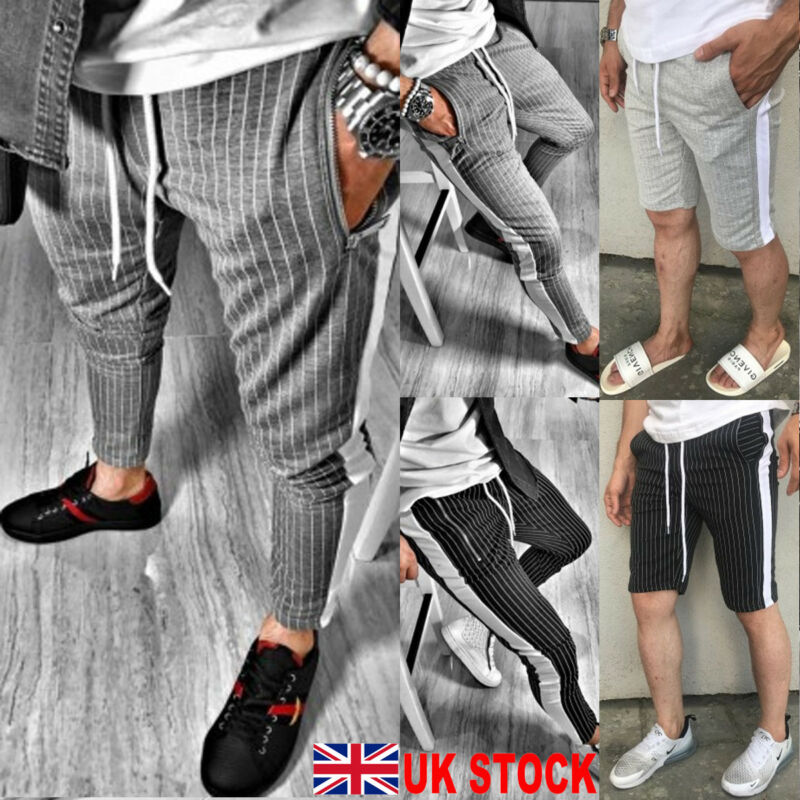 New Fashion Mens Slim Fit Tracksuit Bottoms Skinny Jogging Joggers Sweat Pants Trousers