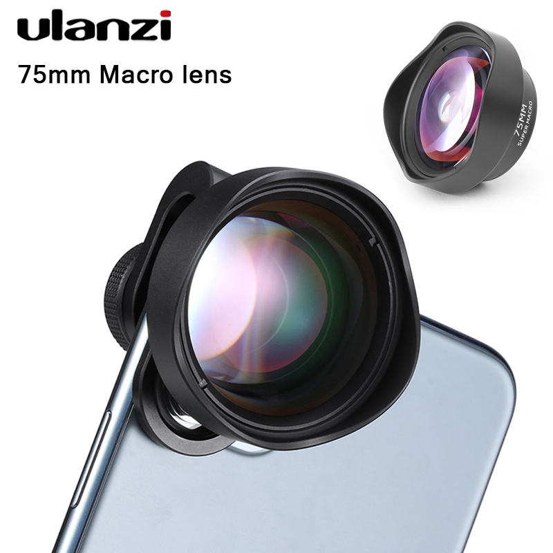 Ulanzi 10X 75MM Macro Phone Camera Lens 17MM Thread Mobile Lens Clip On Lenses With CPL Filter Anamorphic Lens Fisheye Telephoto