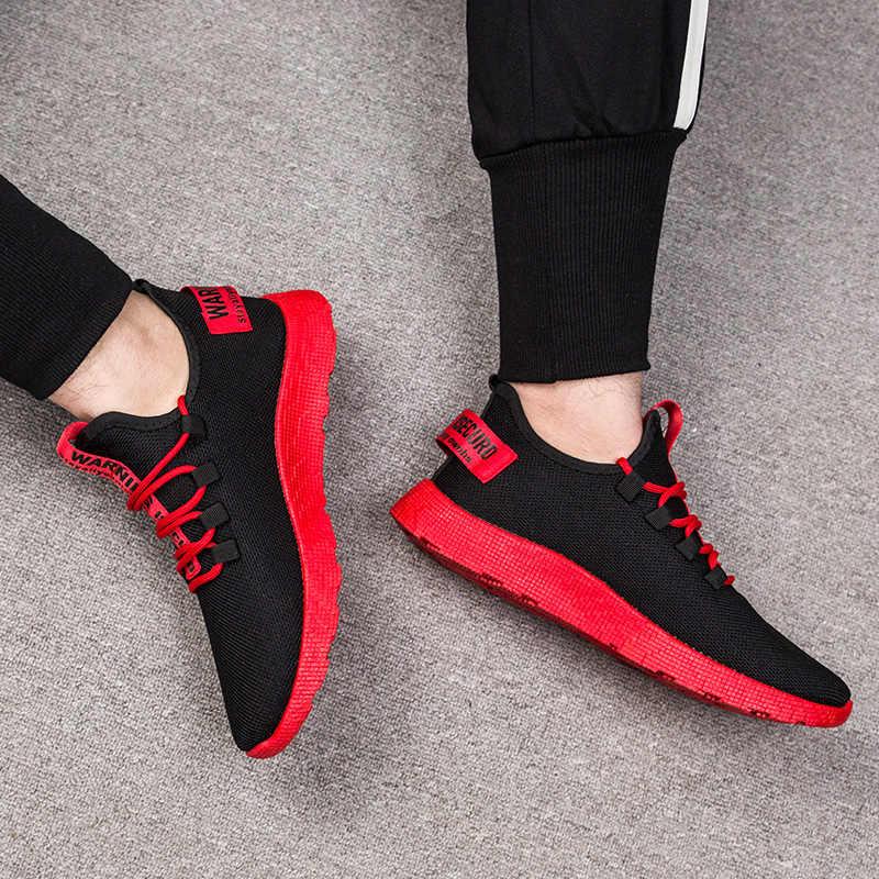 تنفس شبكة حذاء رجالي خفيفة الوزن مقاومة للاهتراء حذاء كاجوال الأحذية الكلاسيكية أحذية رياضية الرجال Zapatos Hombre