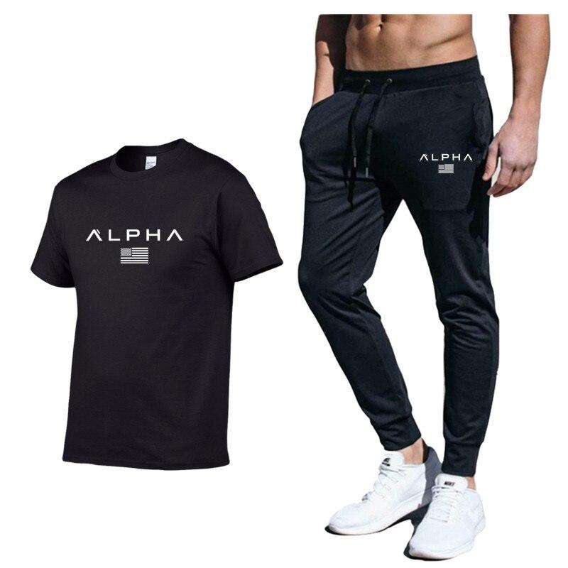 2020 New 3D Large Size Summer New Men's Suit Sportswear Men's Sports Suit Chandal Hombre Casual Clothes Sportswear Suit Pants Me