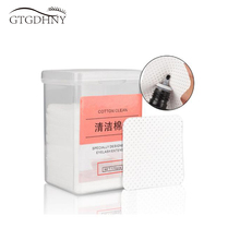 170pcs Lint-Free Paper Cotton Wipes Eyelash Glue Remover wipe the mouth of the glue bottle prevent clogging glue Cleaner Pads