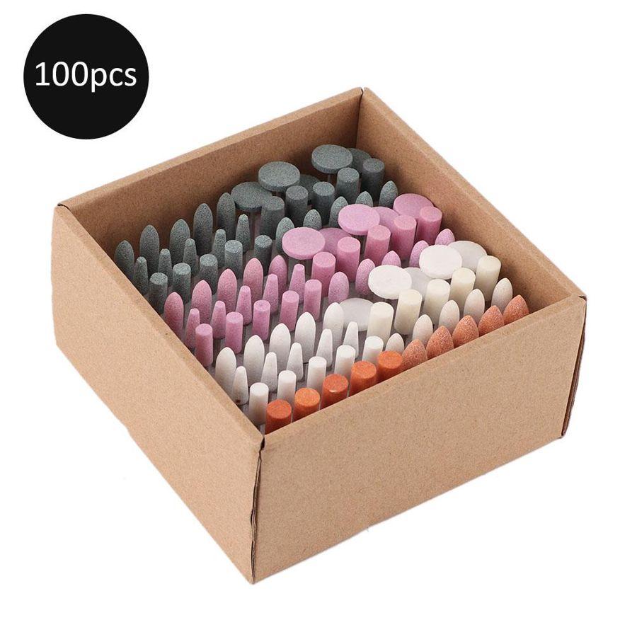 maquina de manicure 100 pcs profissional prego broca bits conjunto manicure pedicure unha polimento arte do