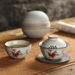 Handgemaakte Keramiek Theewaar Sets Draagbare Reizen Fine Bone Chinese Dining Bar Theewaar Sets Jogo De Cha Thuis Keuken DB60CJ
