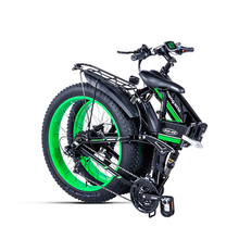 Electric snow  bike  Fat folding  bicycle 48V*500w lithium battery  aluminum frame and LED light SHIMANO transmission