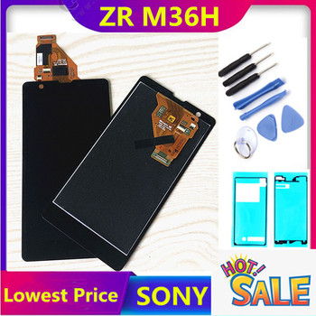 100% Tested For SONY Xperia ZR Display with Touch Screen Digitizer Assembly Display For SONY Xperia ZR LCD M36h C5502 C5503 tested replacement for sony xperia sp m35h lcd m35 m35i c5302 c5303 screen display 1 piece free shipping high quality