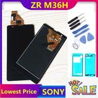 100% getestet Für SONY Xperia ZR Display mit Touchscreen Digitizer Montage Display Für SONY Xperia ZR LCD M36h C5502 c5503-in Handy-LCDs aus Handys & Telekommunikation bei