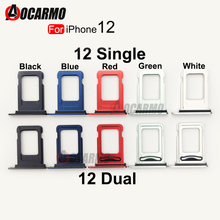 Dual & Single Sim Card For iPhone 12  Holder SIM Card Tray Slot Holder Adapter Socket Replacement Parts
