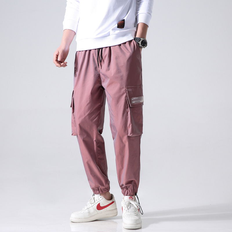 Reflective Hip Hop Pants Men Joggers Sweatpants Men's Streetwear Men Harem Cargo Pants 2020 New Loose Elastic Waist Trousers