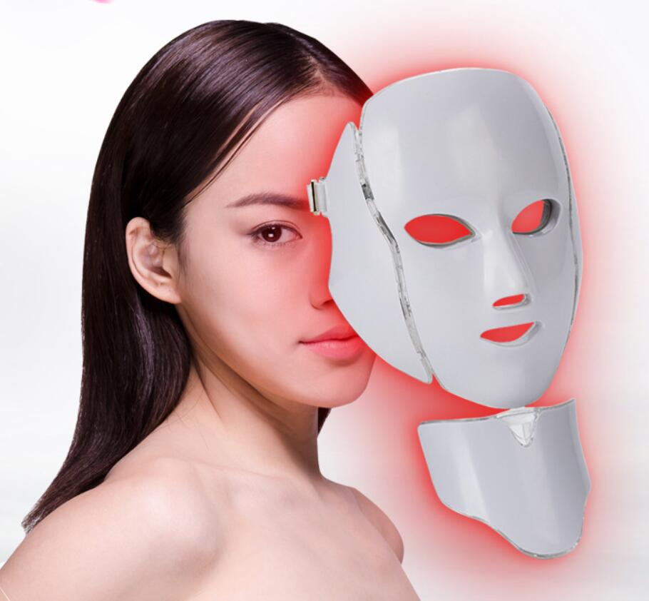 FEITA 7 Color Led Facial Mask Led Korean Photon Therapy Face Mask Machine Light Therapy Acne Mask Neck Beauty Led Spa Mask