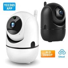 Камера видеонаблюдения YCC365 1080P Cloud HD IP, Wi Fi камера с функцией автоматического слежения, радионяня, ночное видение, камера безопасности для дома